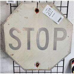 Vintage Aluminum STOP Sign