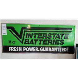 "Aluminum ""Interstate Batteries"" Sign"
