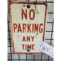 "Heavy Metal ""No Parking Any Time"" One-Sided Sign"