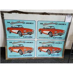 """""""Yesterday's Corvette"""" Aluminum Sign"""