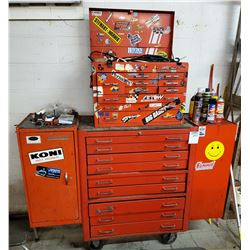 """Lockable """"Mac Tool"""" Rollable Tool Box with Side Boxes"""