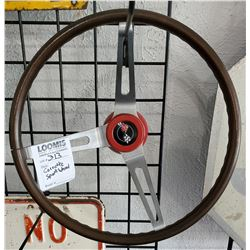 Vintage Corvette Wood Sport Wheel, Approx. 1968