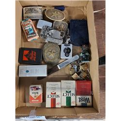 Lot of Vintage Cigarette Items and Other Collectibles
