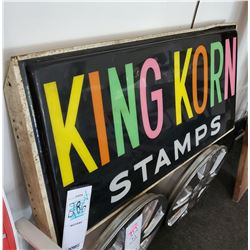 "Vintage Lighted Box Sign ""King Korn Stamps"""