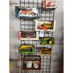 Lot of Collectible Antique Trucks and John Deere, in Boxes