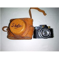 Vintage Shalco Miniature Spy Camera, w/ Leather Case