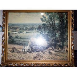 "Framed Print ""Harvest Time"" by Alfred Augustus Glendening"