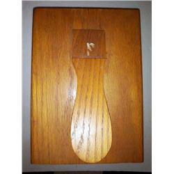 Vintage Oak Shoe Shine Box w/ Polish, buffers, etc.