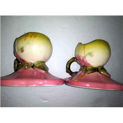 Pair of Vintage Woodland W30 Candle Holders, by Hull USA Pottery