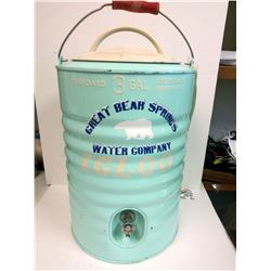 RARE IGLOO ENAMELED  3 GALLON WATER COOLER