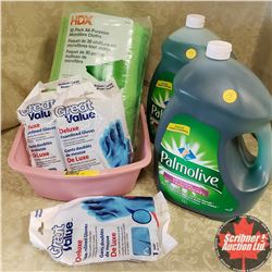 Basin Combo: 2 Jugs Palmolive (5 Litre Jugs); 30 Pack All Purpose Microfibre Cloths . . .