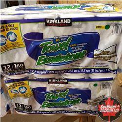 Kirkland Paper Towel 2 Pkgs (12 Rolls per Pkg)