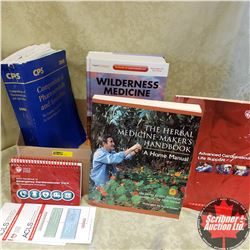 Tray Lot - Large Medicine Ref Books (4): Wilderness Medicine 6th Edition; Herbal Medicine Makers Han