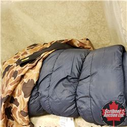 Large Sleeping Bag 33x80 w/Camo Bag