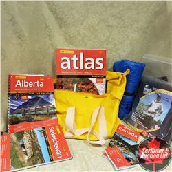 Weather Proof Bag w/Contents (2 Pkgs Bite Blockers (Pants); 2 Back Road Atlas - AB CAN/US/Mexico Atl