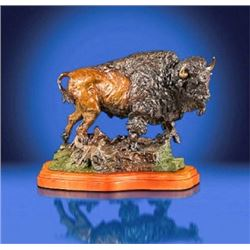 """BRONZE BY LORENZO GHIGLIERI ENTITLED """"POWER OF THE PLAINS"""""""