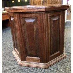 Walnut Pedestal from Bennett Woodworks