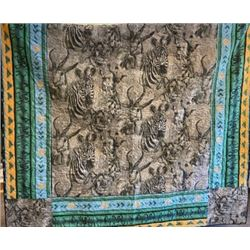 Handmade Quilt with fabric from Zimbabwe