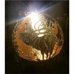 Custom Fire Globe by Cody Allison