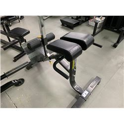 BLACK POWERTEC STRENGTH BACK EXTENSION BENCH