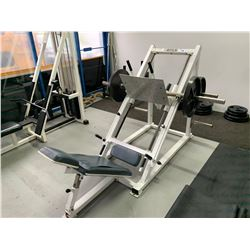WHITE APEX SEATED VERTICAL FREE WEIGHT LEG PRESS MACHINE