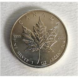 Canadian Maple Leaf 5 Dollar 1  Ounce 999 Silver