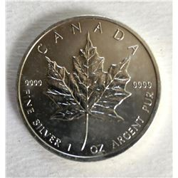 Canadian Maple Leaf 5 Dollar 1  Ounce 999