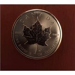 Canadian Maple Leaf 5 Dollar 1 OZ Silver