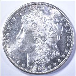 1886-S MORGAN DOLLAR, GEM BU SUPER FLASHY