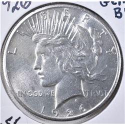 1926 PEACE DOLLAR, CH BU