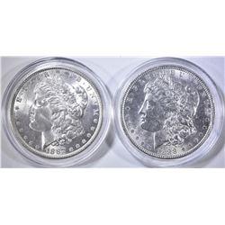 1887 & 88 CH BU MORGAN DOLLARS  CAPSULES