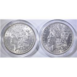 1897 & 98 CH BU MORGAN DOLLARS IN CAPSULES