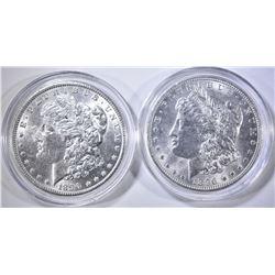 1890 & 96 CH BU MORGAN DOLLARS IN CAPSULES