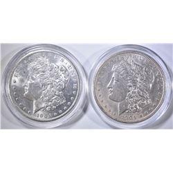 1904 & 1904-O CH BU MORGAN DOLLARS IN CAPSULES