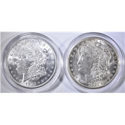 1921-D&S CH BU MORGAN DOLLARS IN PLASTIC CAPSULES