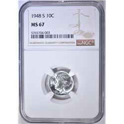 1948-S ROOSEVELT DIME NGC MS-67