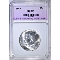 1965 KENNEDY HALF NGP SUPERB GEM BU