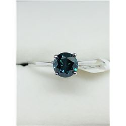 10K BLUE DIAMOND RING SIZE 7