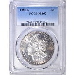 1885-S MORGAN DOLLAR  PCGS MS-63