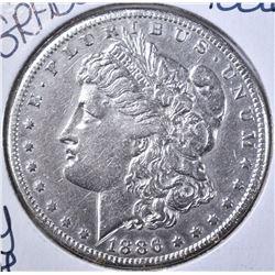 1886-S MORGAN DOLLAR  AU
