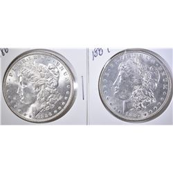 1886 & 1887 MORGAN DOLLARS  UNC