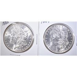 1888 & 1889 MORGAN DOLLARS   UNC