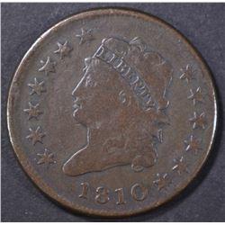 1810 LARGE CENT  F-VF