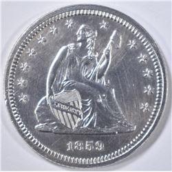1859 SEATED QUARTER PROOF