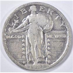 1921 STANDING LIBERTY QUARTER  VF/XF