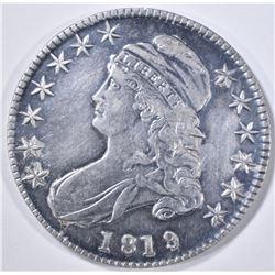 1819/8 BUST HALF DOLLAR  AU OLD CLEANING