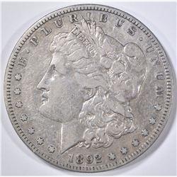 1892-S MORGAN DOLLAR  VF/XF