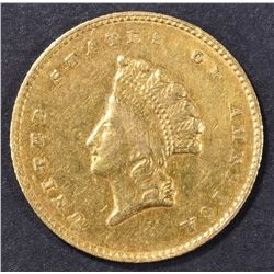 1855-O $1 GOLD INDIAN PRINCESS  AU