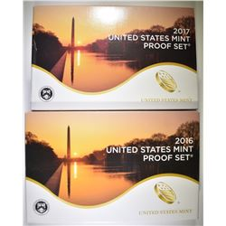 2016 & 2017 U.S PROOF SETS ORIG PACKAGING