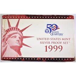 1999 U.S. SILVER PROOF SET ORIG PACKAGING